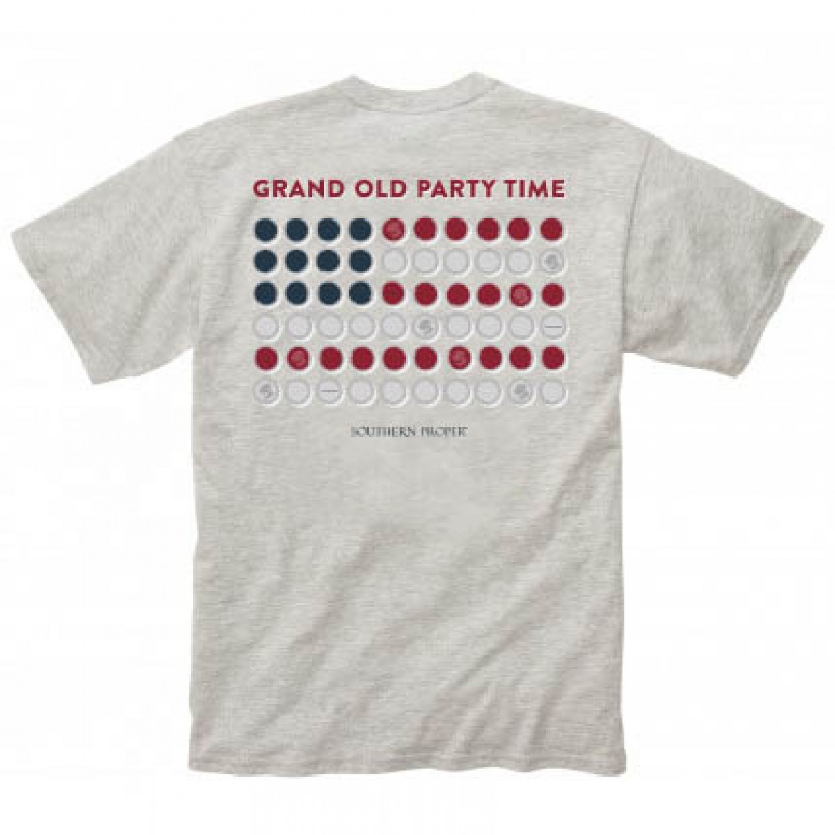 Grand Old Party Tee: Heather Grey Short Sleeve